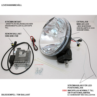 Extraljus NBB225 50W Xenon 24V