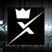 Dekal X-logo 10cm Glossy White