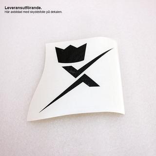 Dekal X-logo 10cm Glossy Black