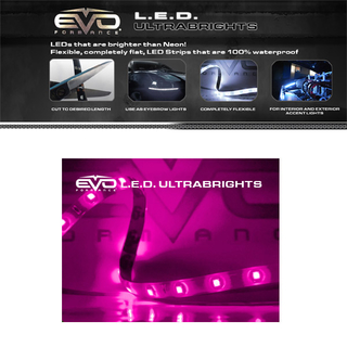 20CM Ultrabright LED Strips FUCHSIA