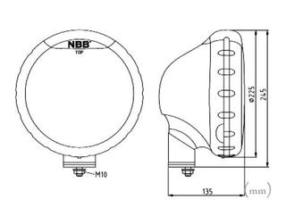 2-PACK NBB225 75W Xenon