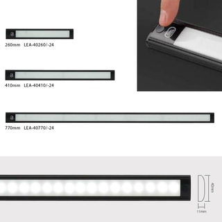 260mm Interior Strip Touch Black