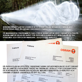 D2S Osram Xenarc