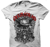 DEGRADEAD - T-SHIRT, A WORLD DESTROYER (WHITE)