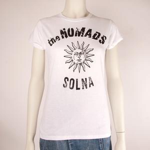 THE NOMADS - LADY T-SHIRT, LOGO SUN (WHITE)