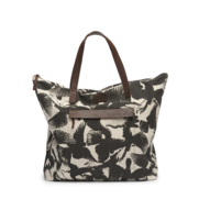 ADAX Misse - Bird Print Canvas Shopper