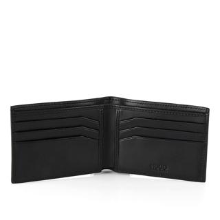 Hugo Boss - Plånbok i kornigt läder