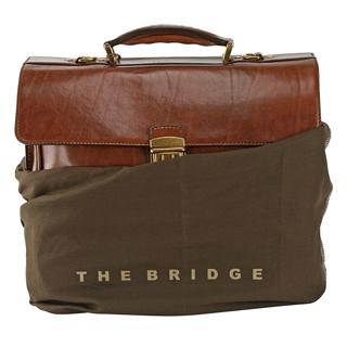 The Bridge - Skinnportfölj i brunt läder