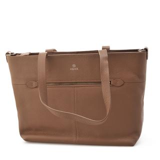 ADAX Cormorano - Handväska i läder, Cappuccino