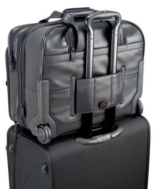 Tumi - Deluxe Wheeled Leather Brief with Laptop Case