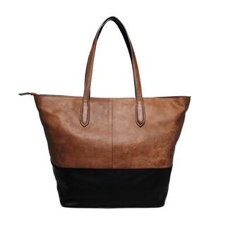 Boomerang - Shoppingväska i genuint läder, Svart