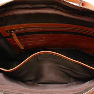 "Morris - 13"" datorväska i läder, Dark Brown"