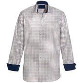 Skjorta Freeman blå/röd/vit comfort fit