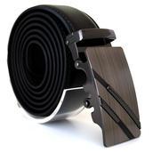 Läderbälte stripe svart 985