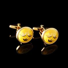 Manschettknappar Tre Kronor guld/gul