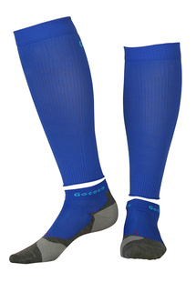 Compression Calf Sleeves und Light Sport Kit Electric Blau