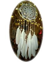Dreamcatcher Crochet - White with Pearls 15cm