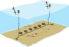 Kräftlänk, Havskräfta, 3 burar