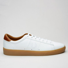Fred Perry Spencer Tumbled Leather White
