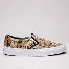 Vans Classic Slip-On Leather/Snake Gold