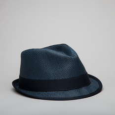 Fred Perry Hat Straw Trilby Navy