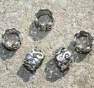 Metallpärlor ringar SSS innermått 7mm 5st