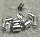 Avslut hylsor släta med innermått 5.5mm platina 10st