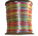 Satintråd 2mm multi pastell 3 meter