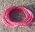 Vaxad polyestertråd 1mm rosa 10m
