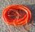 Vaxad polyestertråd 1mm orange 10m