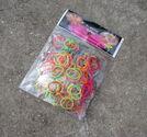Loom gummiband + krok vågig mix