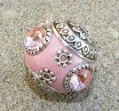 Indonesisk pärla rosa med rosa sten slät