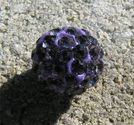 Strasspärla 10mm lila