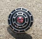 Chunk knapp metall med strass rosa rutor