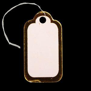 Prislappar vita med guldkant 100st