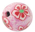 Fimopärla 12mm rosa blommor 5st