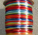 Satintråd 2mm rainbow 3 meter