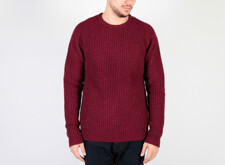 KN10 - LAMBSWOOL KNIT - DEEP RED