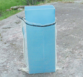 Packkanal för 60 och 80 literssäckar