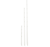 Krysstolpe av plast, vit 60cm