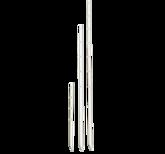 Krysstolpe av plast, vit 150cm