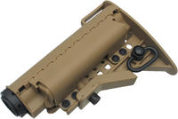 King Arms Carbine MOD Stock - Tan with Pipe
