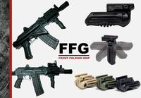 TDI Arms 5 pos Folding Foregrip W/Battery Comp. Kaki