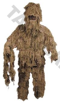 Ghillie Suit Desert Camo 4pcs kit M/L