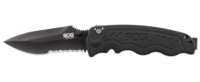 SOG Zoom Mini Partially Serrated - Black Tini