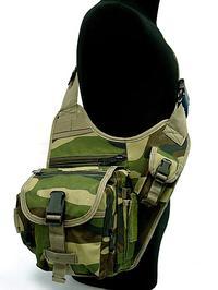 Military shoulder versipack woodland