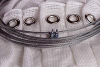 Bågskytte Nät White Extra Strong Med Öljetter & Wire 3m