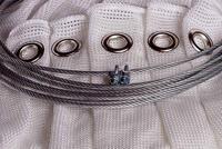 Bågskytte Nät White Extra Strong Med Öljetter & Wire 4m