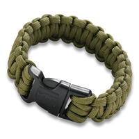 CRKT Paracord Armband Med Vajersåg Olivegrön