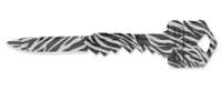 SOG Key Knife Zebra